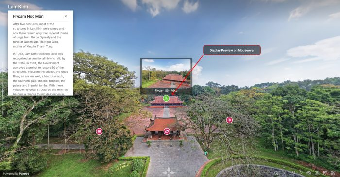 panoee best free virtual tour software - hotspot preview