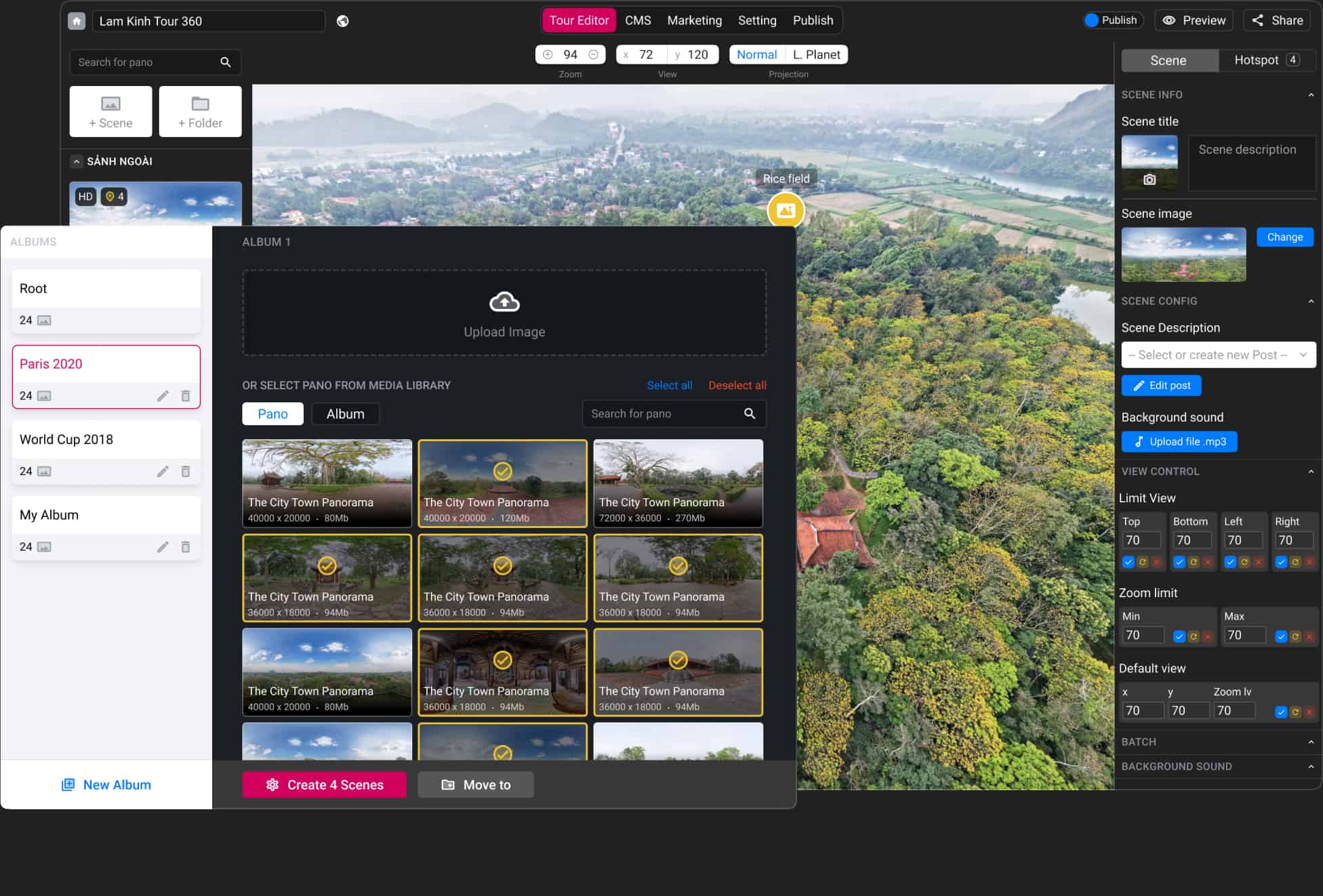 panoee - best free virtual tour software - auto save